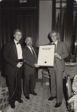 Rabbi W. Solomon with two other men at JNF event