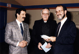 Arthur Weinstein, Father Michael A. Daniel , and Rabbi Cohen