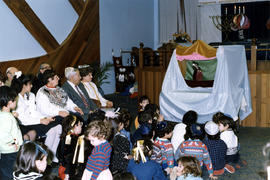 Children's puppet show at Beth Hamidrash
