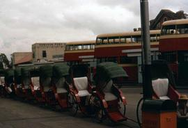 Rickshaws and buses