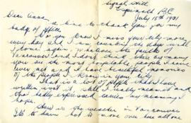 Letter from Ralph, July 18, 1931