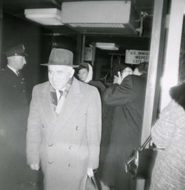 Abe and Rose Stern after going through immigration on their arrival at the Vancouver Airport from...