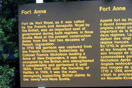 "Sign that reads: ""Fort Anne"""