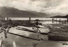Log booms, Forward Bay, Cracroft Island, B.C., scenic collection