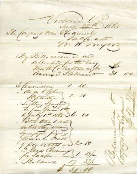 Bills received and collected for May - June 28, 1865