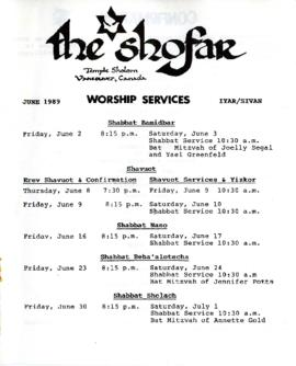 The Shofar - June 1989
