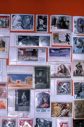 Variety of Russian postage stamps