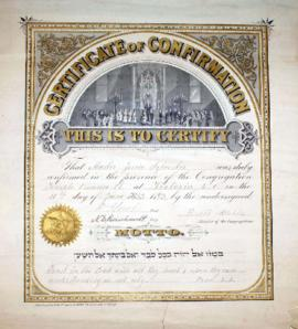 [Certificate of Confirmation for Jessie Sylvester]