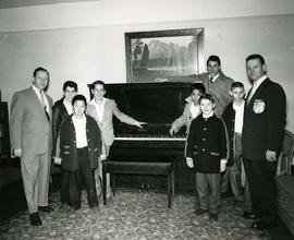 Lion's Gate Lodge assist in the purchase of this piano for the boy's receiving home