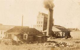 Smokestack and factory, Vancouver, British Columbia