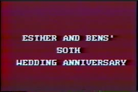 Ben and Esther's day 1986; 50th wedding anniversary