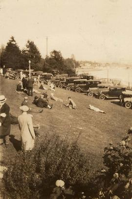 Cars parked at Stanley Park