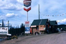 Chevron gas station in Forty Mile, Yukon