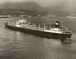 "SS ""World Treasure"" moored in Vancouver Harbour"