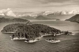 Aerial view of Howe Sound, B.C., scenic collection