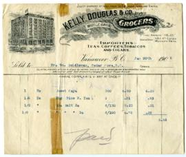 Kelly, Douglas & Co. Limited Bill - January 20, 1908