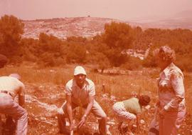 Ben and Esther Dayson plant trees in Israel