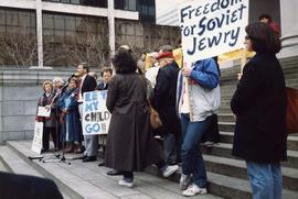 [Unknown man speaking at rally for Soviet Jewry]