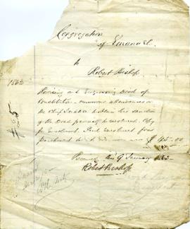 Congregation of Emanu-El - Deed of Constitution - 1862