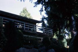 Backside of the Snider's house surrounded by trees