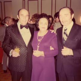 [Ben Dayson, Irio Gray and Mrs. Gray at an unknown event]