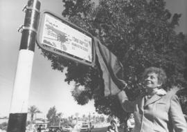 Dedication of street naming for Henrietta Szold in Israel