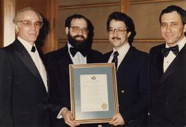 Jewish National Fund presents award to two unidentified men