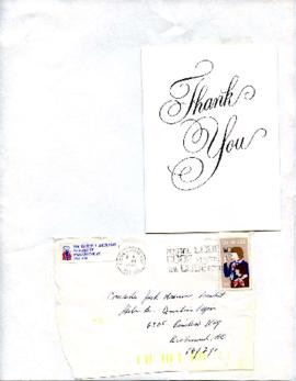 [Thank-You Note addressed to Jack Krauss from David L Jackson]