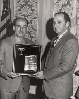 Alec Jackson (left) presents award to Ernest E. Rosenthal, Golden Gate Lodge, San Francisco, at [Confab]