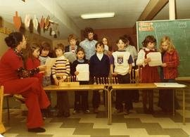 Hanukkah 1975 - The Group - 12 children and teachers Sam Jason and Divori Balshine