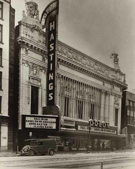 Odeon-Hastings (formerly Pantages) Theatre, 20 West Hastings, Vancouver, British Columbia