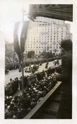 Royal tour in Vancouver 1939