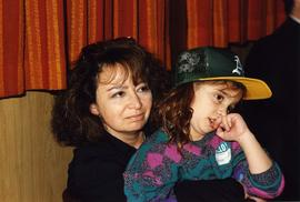 Pictures [illegible] night - Family Friends - [Lee Purkin and a young girl in a baseball hat]