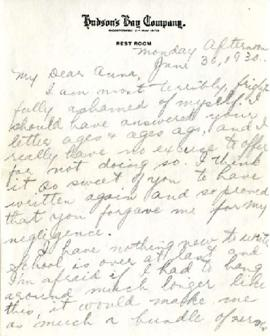 Letter from Dina, June 30, 1930