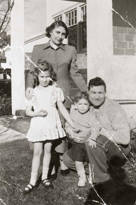 Bill & Sylvia Nemetz with children Debbie, age 6 and Teddy age 2