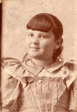 Studio portrait of an unidentified young girl