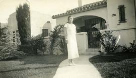 In front of the house where I stay, July 5th, 1932, Los Angeles, Calif.,