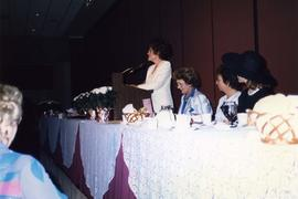 [Unknown woman speaking at B'nai B'rith Women event]