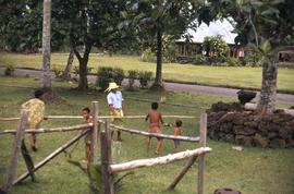 Group of children playing a game