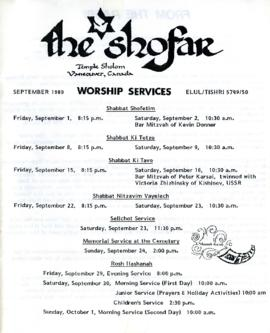 The Shofar - September 1989