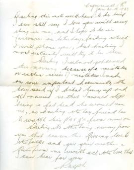 Letter from Ralph, January 30, 1933