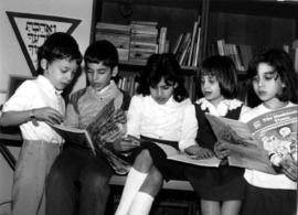Grades 1 & 2 reading at Hebrew Academy