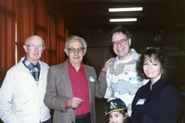 [Bernie Simpson, Lee Purkin, and unidentified people posing for a picture]