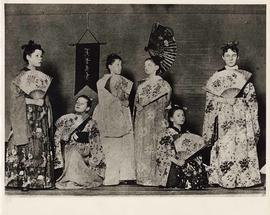 Performers in Japanese costume, with fans