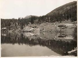 Anderson Lake from Pacific Great Eastern Railway, British Columbia