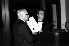 Dr. Jack Diamond & SFU Pres. William Saywell