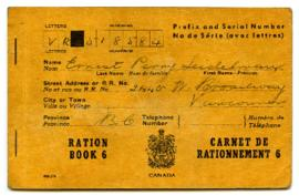 Ration Book - Earnest Perry Seidelman