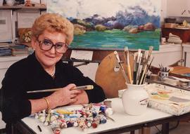 Gertie Zack working on a painting (#36)
