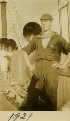 Harry Seidelman aboard the Union Steamship SS Bowena