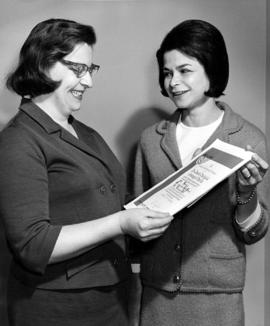 Two women, with Jewish Theological Seminary of America certificate
